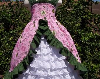 Clara's Dress ruffled sundress with peek-a-boo petticoat