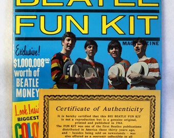 FREE SHIPPING 1964 Beatle Fun Kit (never opened)