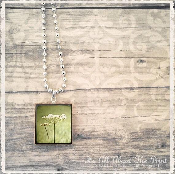 Scrabble Game Tile Jewelry - Queen Annes Lace TTV - Scrabble Pendant Charm - Customize