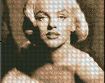 MARILYN MONROE cross stitch pattern No.457