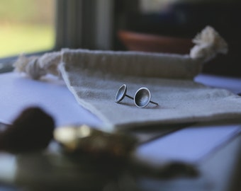 Sterling Silver Dome (everyday earrings) - stud earrings