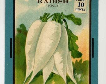 Seed Packet - Icicle  Radish - Burt's Seeds