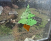 Delaware Bay Sea Glass Christmas Tree Ornament Sun Catcher Gorgeous Frosty Greens