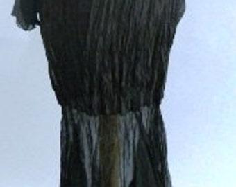 Silk Maxi Flounce Skirt