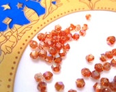 50% Off Amber Bicone Faceted 4mm 50 pcs Czech Glass Crystal beads GB0229