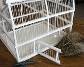Large Vintage Birdcage Wire and Wood, Wedding Decor, Display