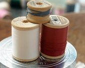 Vintage Buttonhole Twist on Wooden Spools - Lot of 3
