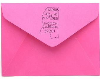 Mississippi Personalized Return Address State Stamp