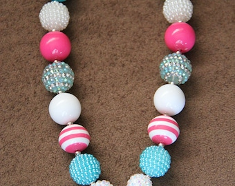 SALE 25% off! Lalaloopsy Mittens Fluff N Stuff Chunky Bubblegum Necklace RTS