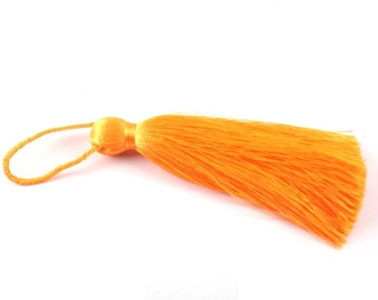1pc- Silk Thread Orange Tassel-Findings- 140x60mm (301-002)