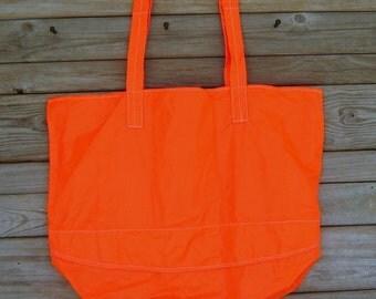 Parachute Bag : Large Neon Orange Parachute Slider Tote Bag