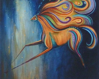 Horse art Free Spirited bright and beautiful  fine art print
