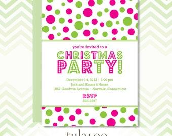 """Holiday Dotty Party Invitation - """"Rio"""""""
