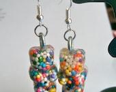 Gummy Bear Earrings, Resin Earrings, Sprinkle Earrings, Resin Sprinkle, Gummy Bear, Resin Jewelry, Gummy Bear Jewelry, Kawaii Jewelry