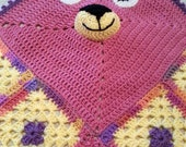 Child's Hand Crocheted Blanket _ Party Bear