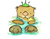 Nursery Art -- Royal Otter -- Art Print