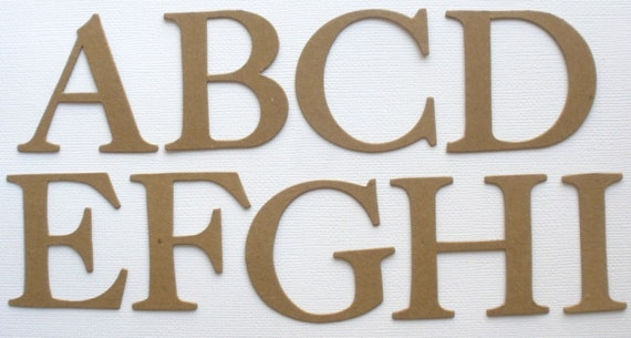 4 elegant cardstock or chipboard letters uppercase alphabets banner size top seller