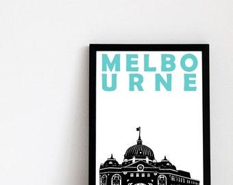 Melbourne Print // Australia Art Print