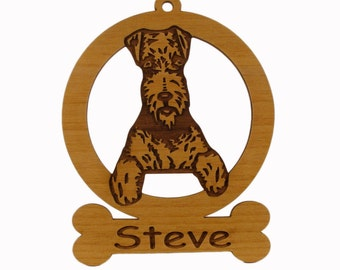 Airedale Sitting Ornament 081065 Personalized With Your Dog's Name