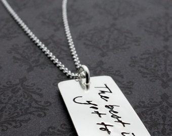 Inspirational Graduation Jewelry - The Best is Yet to Be - Thoreau Quote Necklace - Custom Design by EWD