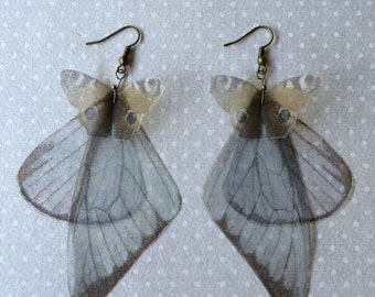 I Will Fly Away - Handmade Vanessa (Inachis Io) Silk Organza Butterflies and Wings Earrings