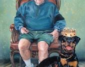 "RoyalRottie, custom oil portrait paintinb by puci, 12x16"""