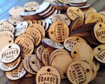 Custom Hang Tags, Custom Buttons, Wedding Hang Tags, Wooden Hang Tags