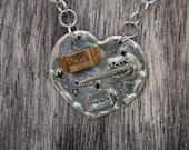 Rock & Roll Heart Necklace
