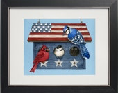 Patriotic Living- an archival watercolor print by Tracy Lizotte