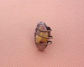 Handcrafted Metalsmith Ring with Mookaite Jasper Semi-precious Stone