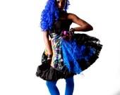 Flirty Fierce Dress / Harajuku / PVC / bright colours / crinoline / tutu / wild / sundress