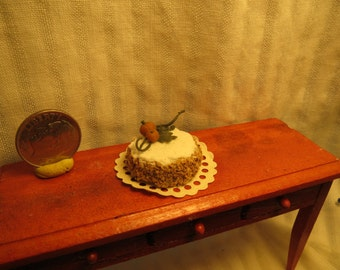 One inch Scale Autumn Themed Cake for Dollhouse