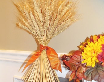 Wheat Sheaf Fall Decor- Thanksgiving Decoration- Thanksgiving Centerpiece Wheat Sheaves- Mantle Decoration- Fall Decoration