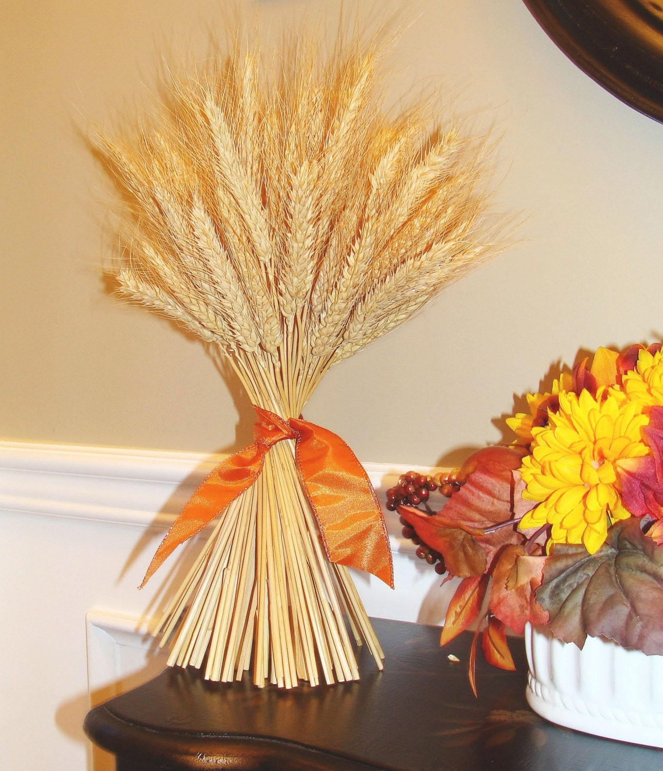 Wheat sheaf fall decor thanksgiving decoration thanksgiving for Wheat centerpieces