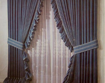 Vintage WINDOW COVERING Sewing Pattern - Opera Theater Curtain Roman Shades Cafe Curtains & More