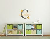 Bee name vinyl wall decal sticker DB311