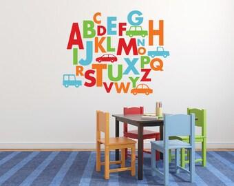 Alphabet car wall decal vinyl DB354