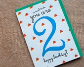 So Much To Do, You're 2 - Happy Birthday! - 4bar card and envelope