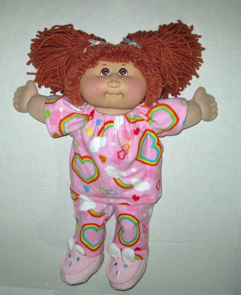 cabbage patch doll clothes 16 inch doll rainbow print