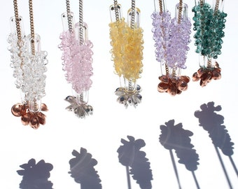 Glass Cluster Charm Necklace - Mini