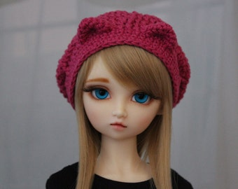 SD BJD Hat Kitty, 1/3 Doll size 8-9, Dollfie Dream Crochet Hat