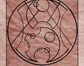 Doctor Who in Gallifreyan art print