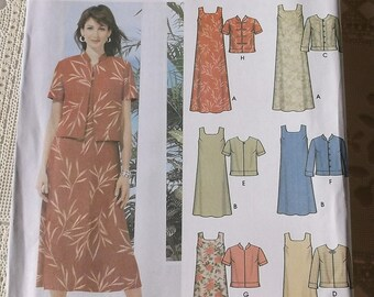 Pullover Dress Pattern Simplicity 5959 Misses Size 8-14 Dress with Jacket Pattern, 6 Made Easy Pattern