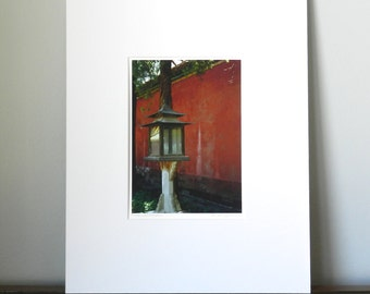 Lantern Photograph of China, Red Art Print, Asian Art, Asian Decor, Chinese Photography, Forbidden City Photo, Chinese Red Art, 5x7