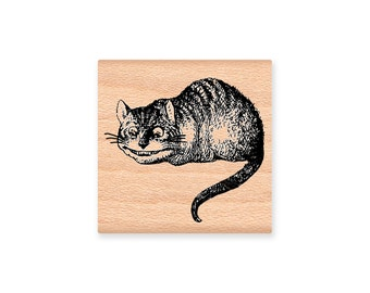 CHESHIRE CAT-Wood Mounted Rubber Stamp (MCRS 27-14)