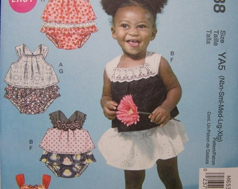 CLEARANCE McCall's M6538 Infant Sewing Pattern, Infant Summer Top, Ruffled Baby Panties, Easy Infant Girl's Pattern