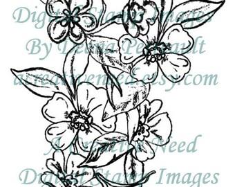 INSTANT Download Digital Stamp Image BLOSSOM BOUQUET