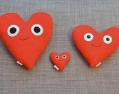 Custom Fleece Heart Plushie