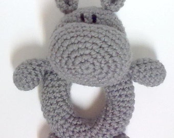 Henry the Hippo Rattle Pattern