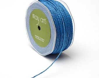 Blue Paper Cord Ribbon . 10 yards